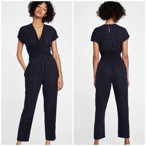 ZARA Flowing Jumpsuit with draped detail